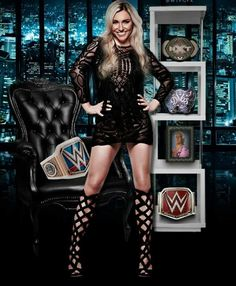The gorgeous queen of wwe smackdown live champion Charlotte flair. Wrestling Superstars, Wrestling Divas, Women's Wrestling, Wrestling Stars, Wwe Raw And Smackdown, Charlotte Flair Wwe, Catch, Wwe Women's Division, Paige Wwe