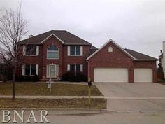 SOLD!  New Price!  Large family home in Northpoint school district. 3000 square feet above plus finished lower level. Nice room sizes, no back yard neighbors, backs to lake. Fenced yard. Lots of room! Refrigerator is negotiable.  2705 Kolby, Bloomington, IL