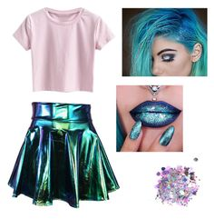 """""""Metallic Mermaid"""" by unikitty864 on Polyvore featuring The Gypsy Shrine"""