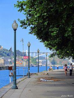 Porto - Portugal Zona de Miragaia, com vista para a Ponte d´Arrábida, Porto, Portugal Spain And Portugal, Portugal Travel, Places To Travel, Places To See, Porto City, Douro, Port Wine, Holiday Places, Cities