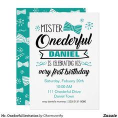 Mr. Onederful Invitation | Boy 1st birthday theme