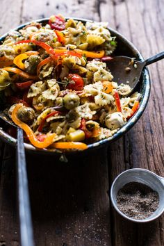 "beautifulpicturesofhealthyfood: ""Everything But the Kitchen Sink Pasta Salad….RECIPE """