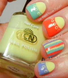 Let them have Polish!: @caroline k. k. k. k. Nichols USA Blossom Sorbet Collection- Spring Nail Art Look