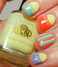 Let them have Polish!: @caroline k. k. k. Nichols USA Blossom Sorbet Collection- Spring Nail Art Look