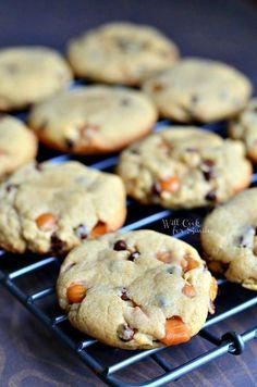 Peanut Butter Chocolate Caramel Cookies