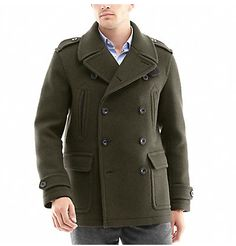 forrest green wool peacoat. it needs to get colder around here.and ...