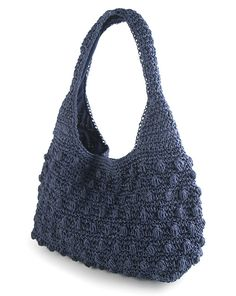 Crochet Tote, Crochet Handbags, Knit Crochet, Knitting Accessories, Purses And Handbags, Crochet Patterns, Canvas, Crocheted Purses, Knitted Bags