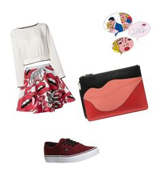 """""""mouthing off"""" by mcounce on Polyvore featuring Philipp Plein, Vans, Theory and Diane Von Furstenberg"""