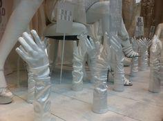 Gloves- selfridges window