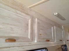 Cupboards get a weatherboard paint effect