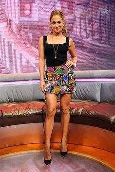 """Jennifer Lopez visits BET's """"106 and Park"""" TV show in New York on June 19, 2014."""