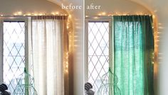 Brightening Up Old Curtains with an Ombre Dye Technique