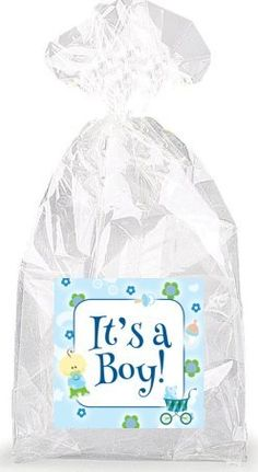 It's a Boy! Party Favor Bags with Ties - 12pack ** Find out more about the great product at the image link.