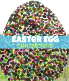 Easter Egg Suncatchers & Messy Play These are made from clear contact paper and confetti. Easter Art, Hoppy Easter, Easter Crafts For Kids, Easter Bunny, Easter Eggs, Spring Crafts, Holiday Crafts, Holiday Fun, Messy Play