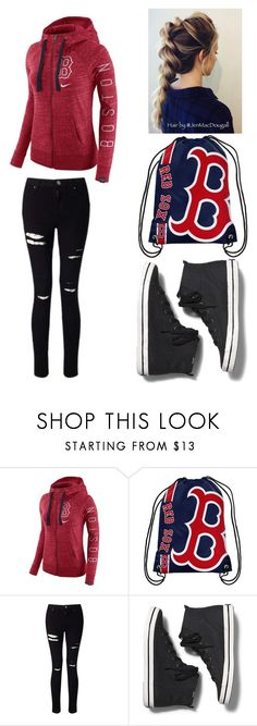 """""""Boston Red Sox"""" by lesley-danae-2003 on Polyvore featuring NIKE, Forever Collectibles, Miss Selfridge and Keds"""