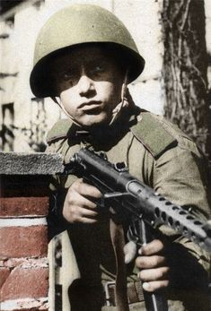 Red Army soldier in Ukraine. World War II
