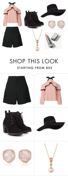 """""""Just Because #5"""" by mgbutler ❤ liked on Polyvore featuring Chloé, Alexis, Red Herring, San Diego Hat Co., Monica Vinader, LE VIAN and Burberry"""