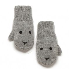 Grey Rabbit Mittens by Oeuf NYC