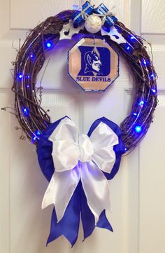 Duke Blue Devils Wreath