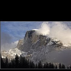 Half Dome after the snow storm