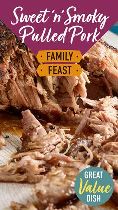A warming slow cooker pulled pork dish, great for sharing with friends and family. Whether you're looking for a tantalising barbecue centrepiece or a reliable winter warmer, our sweet 'n' smoky pulled pork recipe blends together a variety of flavours to keep everyone happy.