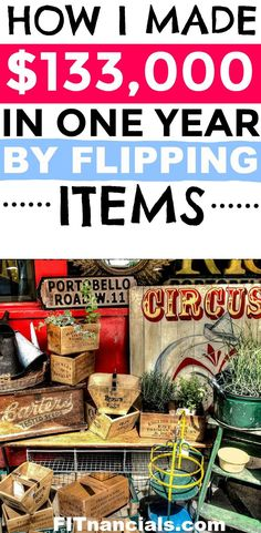 Find out how I made over $133,000 flipping items. #workfromhome #fleamarketflipper