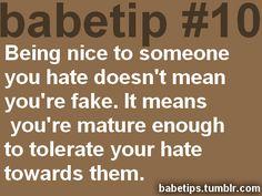 I tolerate people