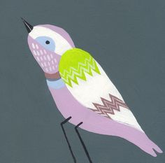 """Pheobe Bird"" - Canvas Wall Art from Oopsy daisy, Fine Art for Kids"