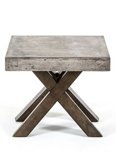Concrete End Table Learn more at https://brickellcollection.com/product/concrete-end-table/