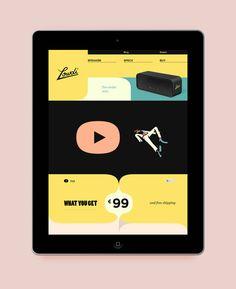 Lowdi  Beautiful Flat UI Design  yellow, retro