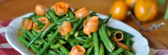 Crisp Green Bean Salad with Carrot Dressing-A perfectly refreshing salad with gingery-carrot dressing.