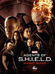 ABC and Marvel Entertainment have revealed a new Marvel's Agents of SHIELD Season 4 poster featuring the principal cast and a new look at Ghost Rider! Heros Comics, Marvel Dc Comics, Marvel Heroes, Marvel Avengers, Poster Marvel, Marvel Live, Shield Season 4, Agents Of Shield Seasons, Marvels Agents Of Shield