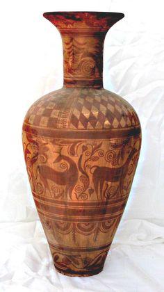 Cerámica ibérica con decoración geométrica. Cabezo de Verdolay. Museo Arqueológico de Murcia