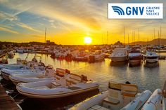 A #sunset over the #port in #Villiasimius, #Sardinia. Discover #GNV routes from/to #Sardinia here: http://www.gnv.it/en/ferries-destinations/porto-torres-ferries-sardinia.html