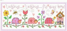 Ladybug - cross stitch pattern designed by Gail Bussi. Category: Whimsy.