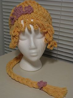 Crochet Rapunzel Wig. interesting