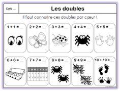 Ajout leçon maths CE1 : les doubles