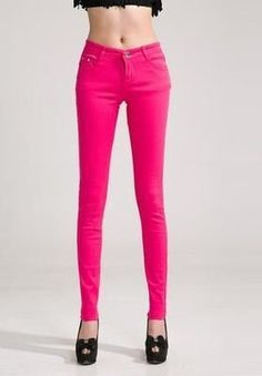 12cae19d4324ca Candy Colors Pencil Skinny Jeans Treggings, Tight Leggings, Leggings Are  Not Pants, Red