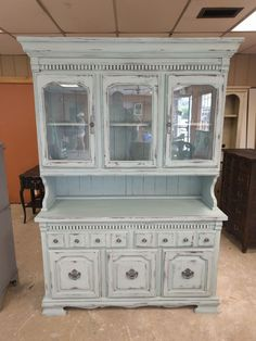 Large Cabinet and Display Hutch