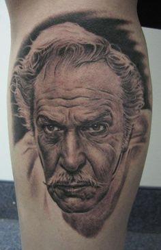 Vincent Price Tattoo by Bob Tyrrell
