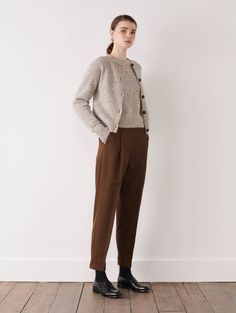 MARGARET HOWELL - DONEGAL CARDIGAN - Knitwear - Shop - Women Anti Fashion, Mens Fashion, Normcore Outfits, Margaret Howell, Donegal, Gorgeous Fabrics, Minimalist Fashion, Knit Cardigan, Mantel