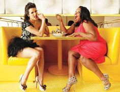 Lea Michele and Amber Riley