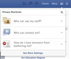 Privacy settings - facebook