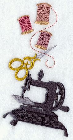 Sewing Stack Embroidered Flour Sack by EmbroideryEverywhere, $13.99