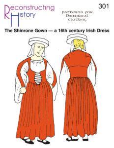 Renaissance Gown, Renaissance Clothing, Historical Clothing, Historical Dress, Traditional Irish Clothing, Celtic Clothing, Irish Fashion, Fashion History, Fashion Tips