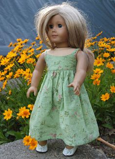 18 inch Doll Clothes -  American Girl Doll Clothes - Maxi Dress - Sundress