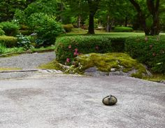The lonely stone that's in its place.  They say it is impossible to make a photograph of a Japanese garden revealing its true beauty because the beauty of a Japanese garden isn't in one standout element but in the position relation and harmony between all elements. True one photograph can never reveal all the essence of a Japanese garden. Yet I couldn't resist but photograph a corner of it to preserve the beauty of Kenroku-en in my memory just a little.  #i #kenrokuen #兼六園  #japanesegarden… Kanazawa, First Photograph, My Memory, True Beauty, Preserve, Lonely, Corner, Japanese, Memories
