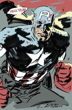 Captain America by Mitch Breitweiser