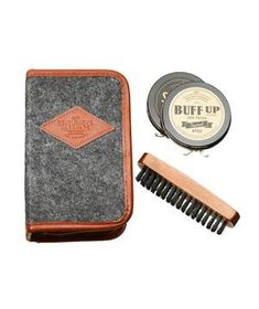 Buff  Shine Shoe Polish Kit: Just for kicks: an all-in-one shoe-shine set for your dapper dad.