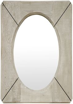 Reclaimed Lumber Musas Mirror – BURKE DECOR Reclaimed Wood Frames, Reclaimed Lumber, Oval Mirror, Burke Decor, Douglas Fir, Types Of Wood, Furniture Collection, Modern Contemporary, Modern Furniture